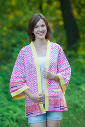 """Street Style"" Kimono jacket in Geometric Chevron pattern"