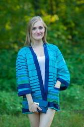 """Street Style"" Kimono jacket in Multicolored Stripes pattern"
