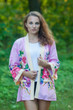 """Street Style"" Kimono jacket in One Long Flower pattern"