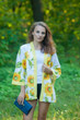 """Street Style"" Kimono jacket in Sunflower Sweet pattern"