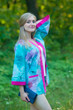 """Street Style"" Kimono jacket in Watercolor Splash pattern"