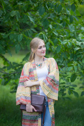 """Boho-Chic"" Kimono jacket in Abstract Geometric pattern"