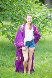 """Boho-Chic"" Kimono jacket in Big Butterfly pattern"