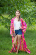 """Boho-Chic"" Kimono jacket in Diamond Aztec pattern"