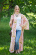 """Boho-Chic"" Kimono jacket in Flower Rain pattern"