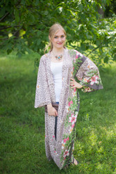 """Boho-Chic"" Kimono jacket in Fun Leopard pattern"