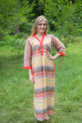 """Simply Elegant"" kaftan in Abstract Geometric pattern"
