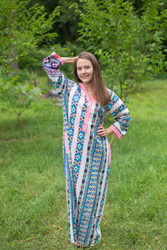 """Simply Elegant"" kaftan in Aztec Geometric pattern"