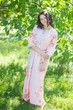 """Simply Elegant"" kaftan in Cabbage Roses pattern"