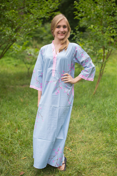 """Simply Elegant"" kaftan in Cherry Blossoms pattern"