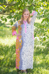 """Simply Elegant"" kaftan in Falling Leaves pattern"