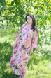 """Simply Elegant"" kaftan in Flamingo Watercolor pattern"