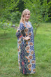 """Simply Elegant"" kaftan in Floral Bordered pattern"