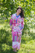 """Simply Elegant"" kaftan in Floral Watercolor Painting pattern"