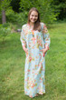 """Simply Elegant"" kaftan in Flower Rain pattern"
