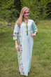 """Simply Elegant"" kaftan in Little Chirpies pattern"