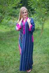 """Simply Elegant"" kaftan in Multicolored Stripes pattern"