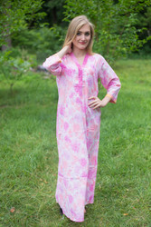 """Simply Elegant"" kaftan in Ombre Fading Leaves pattern"