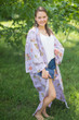 """Boho-Chic"" Kimono jacket in Romantic Florals pattern"