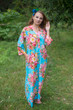 """Simply Elegant"" kaftan in Rosy Red Posy pattern"