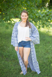 """Boho-Chic"" Kimono jacket in Tribal Aztec pattern"