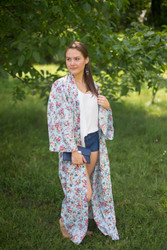 """Boho-Chic"" Kimono jacket in Vintage Chic Floral pattern"
