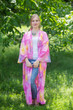 """Boho-Chic"" Kimono jacket in Watercolor Splash pattern"