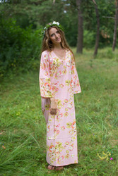 """The Unwind"" kaftan in Flower Rain pattern"