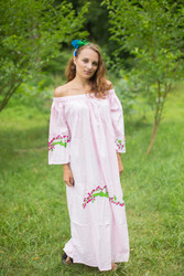 """Serene Strapless"" kaftan in Climbing Vines pattern"