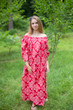 """Serene Strapless"" kaftan in Damask pattern"