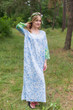 """The Unwind"" kaftan in Falling Leaves pattern"