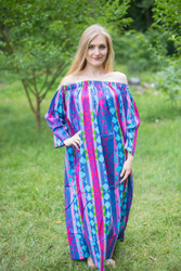 """Serene Strapless"" kaftan in Diamond Aztec pattern"