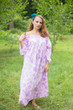 """Serene Strapless"" kaftan in Floral Ombre Fading Leaves pattern"