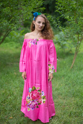 """Serene Strapless"" kaftan in Floral One Long Flower pattern"