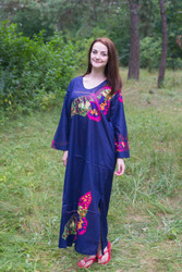 """The Unwind"" kaftan in Big Butterfly pattern"