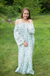 """Serene Strapless"" kaftan in Floral Tiny Blossoms pattern"