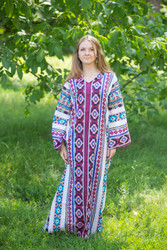 """The Glow Within"" kaftan in Aztec Geometric pattern"
