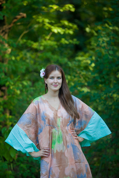 """Ballerina"" kaftan in Batik Watercolor pattern"