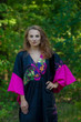 """Ballerina"" kaftan in Big Butterfly pattern"