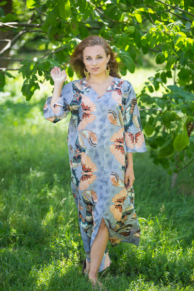 """The Glow Within"" kaftan in Butterfly Baby pattern"