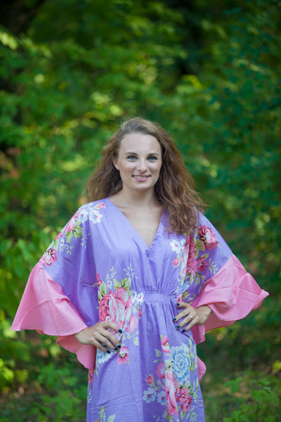 """Ballerina"" kaftan in Cabbage Roses pattern"