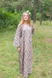 """The Unwind"" kaftan in Chevron pattern"