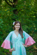 """Ballerina"" kaftan in Cherry Blossoms pattern"