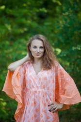 """Ballerina"" kaftan in Chevron Dots pattern"