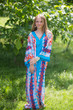 """The Glow Within"" kaftan in Diamond Aztec pattern"