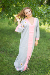 """The Glow Within"" kaftan in Falling Daisies pattern"