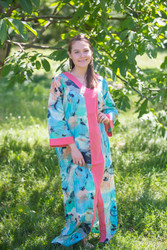 """The Glow Within"" kaftan in Flamingo Watercolor pattern"
