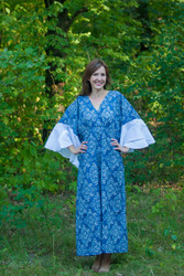 """Ballerina"" kaftan in Damask pattern"