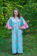 """Ballerina"" kaftan in Faded Flowers pattern"