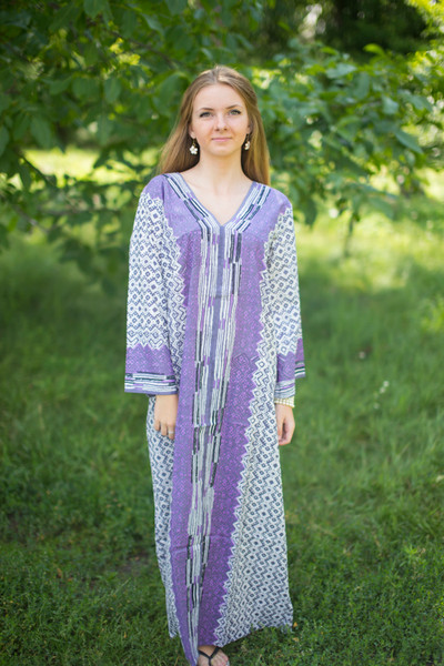 """The Glow Within"" kaftan in Geometric Chevron pattern"